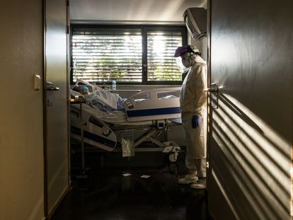 Urgencias del madrileño hospital de La Paz, el pasado mes de abril.