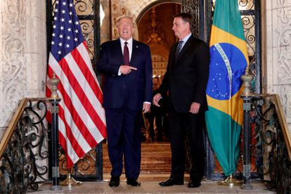 El presidente de EE UU, Donald Trump, y su homólogo de Brasil, Jair Bolsonaro, en Florida el pasado marzo.