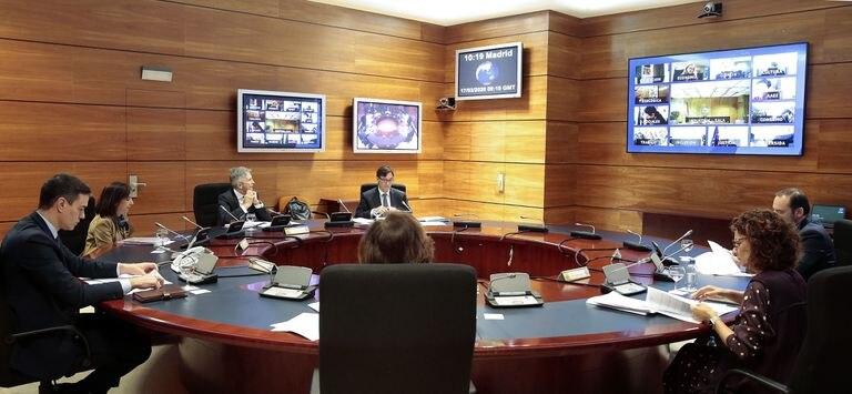 Reunión del Consejo de Ministros en el palacio de La Moncloa este martes.