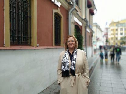 La antigua espía Elena Vavilova, en Moscú el pasado 11 de junio.
