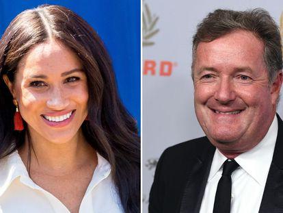 Meghan Markle (a la izquierda) y el presentador Piers Morgan.