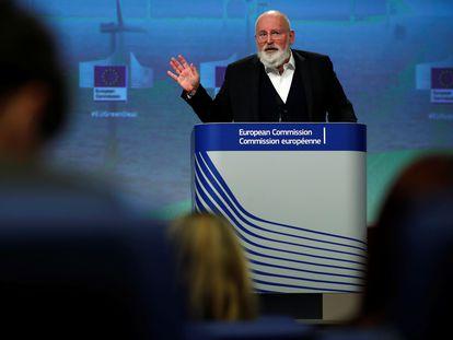 Frans Timmermans, vicepresidente de la Comisión Europea y responsable del Pacto Verde, en Bruselas en noviembre de 2020.