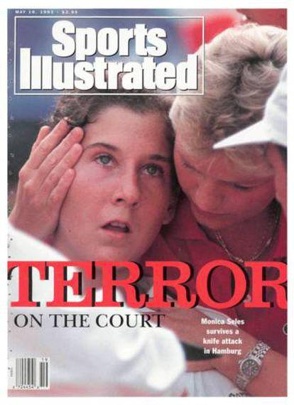 Portada del 'Sports Illustrated' del 10 de mayo 1993 con Seles tras el atentado.