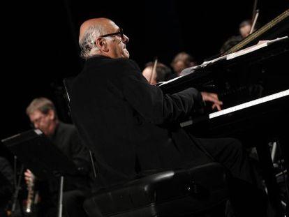 El pianista y compositor Michael Nyman durante un concierto que ofreció en el teatro Compac Gran Vía de Madrid el año pasado