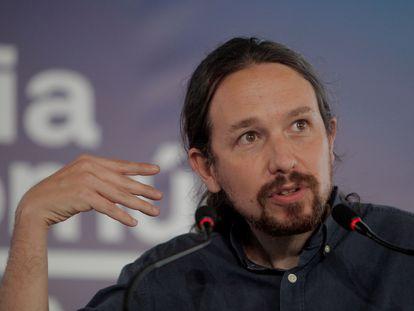 El secretario general de Podemos y vicepresidente del Gobierno, Pablo Iglesias, durante la campaña de las elecciones gallegas.