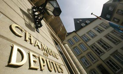 La entrada al parlamento luxemburgués.