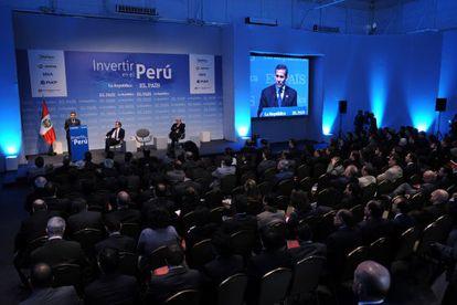 El presidente Ollanta Humala interviene en el foro Invertir en Perú