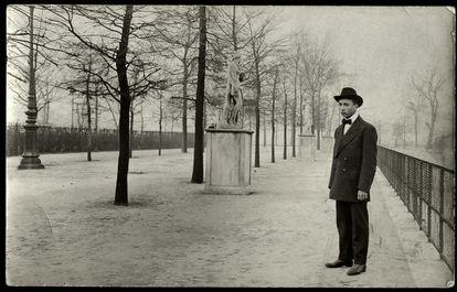 El Jardín de las Tullerías, en París, en 1914.