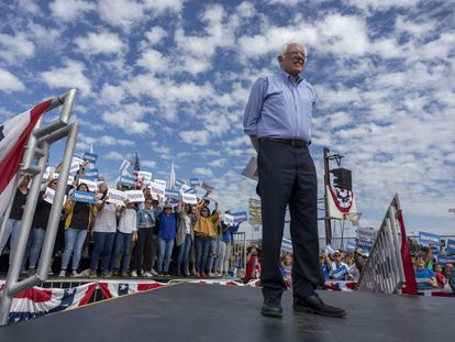 Bernie Sanders, en Santa Ana, California.