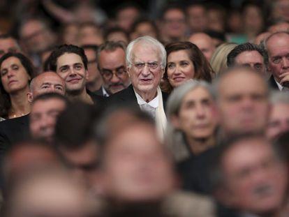 El director francés Bertrand Tavernier, en la ceremonia de apertura del 11º Festival Lumiere, en Lyon, Francia, en 2019.