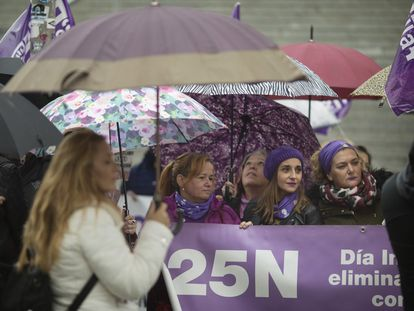 Manifestación por el 25N, en Sevilla, en 2019.