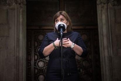 La presidenta del PP valenciano, Isabel Bonig, este lunes.