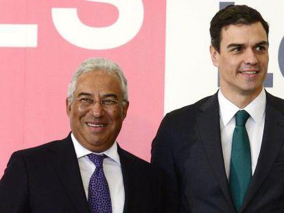 António Costa con Pedro Sánchez.