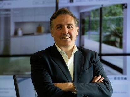 David Martínez, consejero delegado de Aedas Homes, en la sede de la compañía en Madrid.