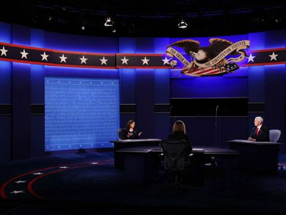 El debate de los candidatos a vicepresidente de EE UU, en imágenes