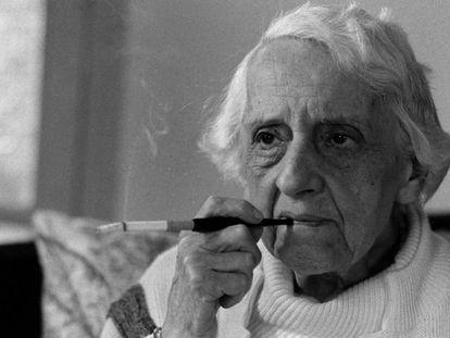 María Zambrano, en 1984.