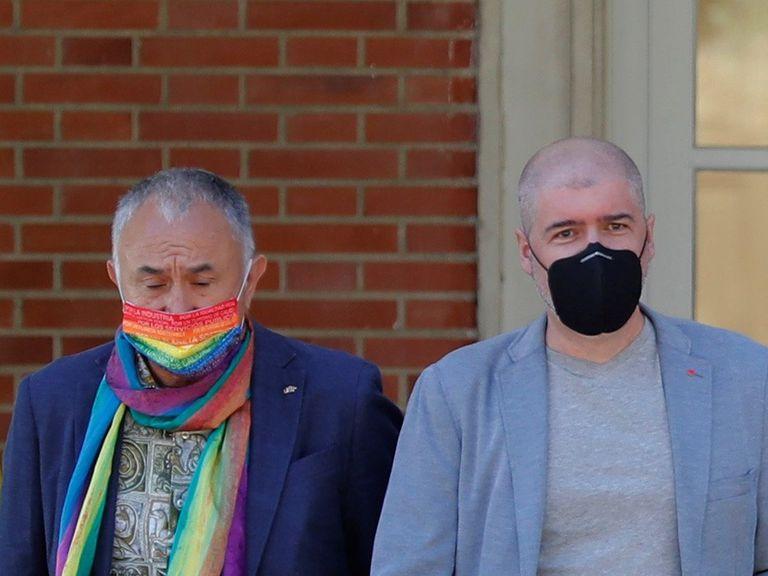 Los líderes de UGT, Pepe Álvarez, y CC OO, Unai Sordo, en la firma de un acuerdo del diálogo social en La Moncloa el pasado verano.