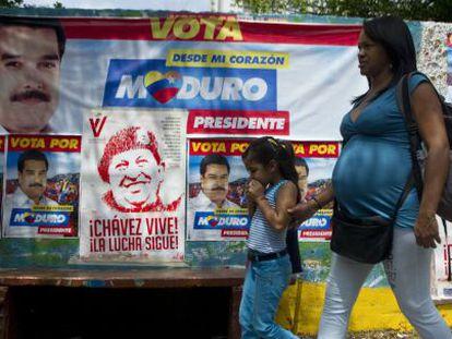 Propaganda de Nicolás Maduro en las calles de Caracas.