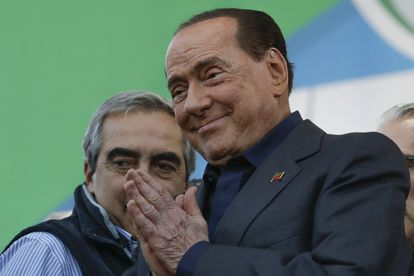 Silvio Berlusconi durante un mitin en 2019 en Roma.