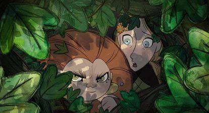 Mehb y Robyn, protagonistas de 'Wolfwalkers' (2020)