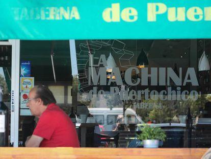 Restaurante La Machina de Puertochico, en Majadahonda, el lunes pasado.