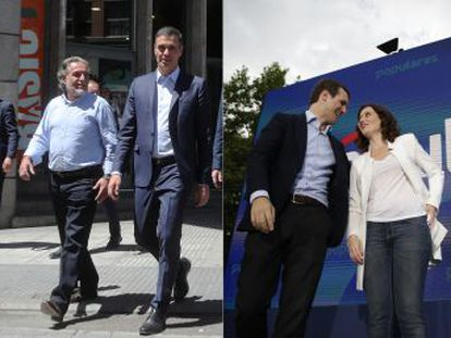 Sánchez, Casado e Iglesias empeñan parte de su crédito político en impulsar a aspirantes que debutan  Pepu Hernández, Isabel Díaz Ayuso e Isabel Serra