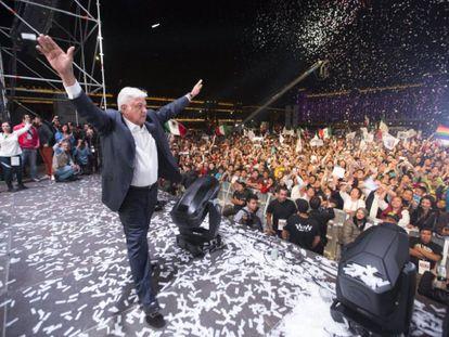 López Obrador tras conocerse los resultados electorales, el 1 de julio.