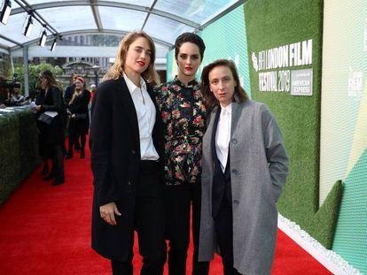 Adèle Haenel, Noémie Merlant y Céline Sciamma, en Londres la semana pasada.