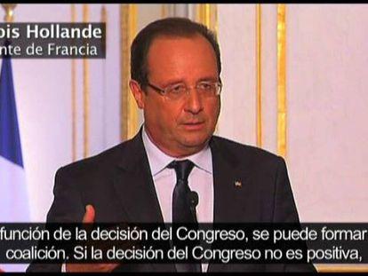 Hollande reconoce que Francia espera la decisión final de Obama