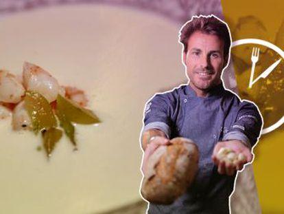 Iván González, chef del restaurante Barra y Mantel, prepara una receta en cinco minutos