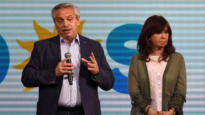 Alberto Fernández y Cristina Fernández de Kirchner, tras la derrota en las elecciones primarias.