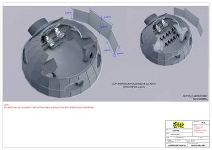 Diseño del laboratorio en Chitón para 'Superlópez'.