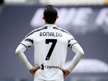 Crisiano Ronaldo en un encuentro de la Juventus contra el Génova en abril de 2021.