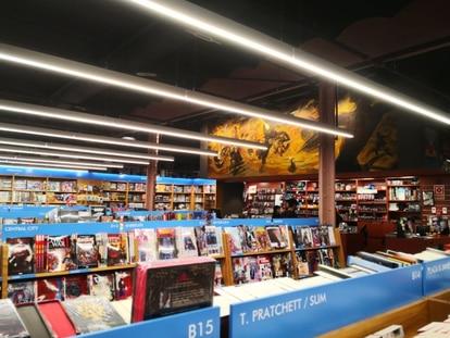 Una imagen de la librería barcelonesa Gigamesh.