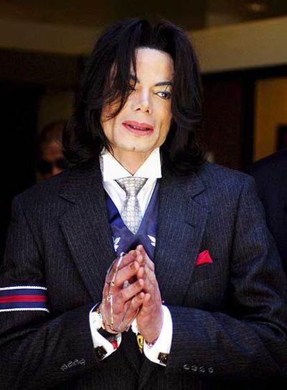 Michael Jackson, en un tribunal de Santa Bárbara en 2005.