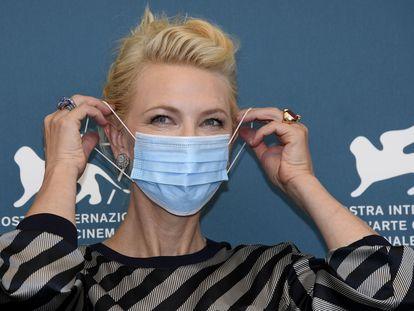 La presidenta del jurado del Festival de Venecia, Cate Blanchett, este miércoles.