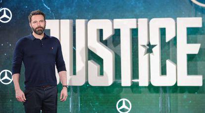 Ben Affleck, en el estreno de 'La Liga de la Justicia', el pasado 4 de noviembre en Londres.