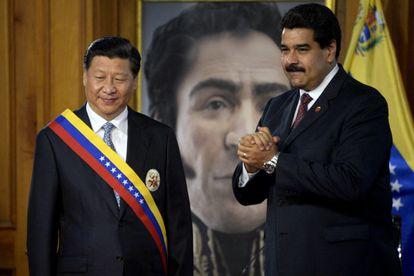 Xi Jinping y Nicolás Maduro, en julio de 2014 en Caracas.