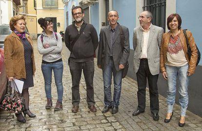 Los representantes de la Plataforma Andaluza por la Enseñanza Pública.