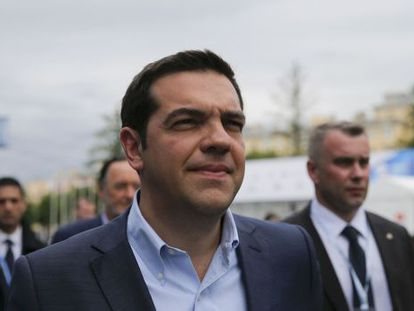 Alexis Tsipras, este jueves en San Petersburgo.