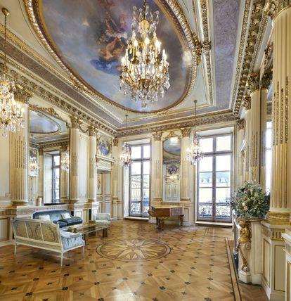 La Maison Chaumet en la parisina Place Vendome, donde puede verse la exposición de Napoleón y Josefina Bonaparte.