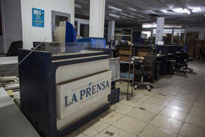 Las oficinas vacías del periódico La Prensa en Managua, el pasado 12 de agosto.