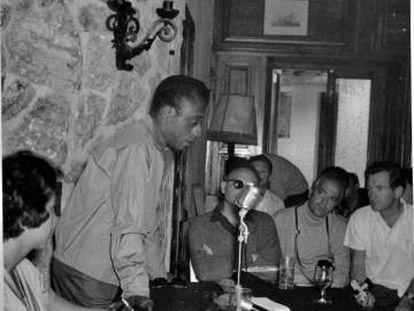 James Baldwin, en Formentor, en mayo de 1962.