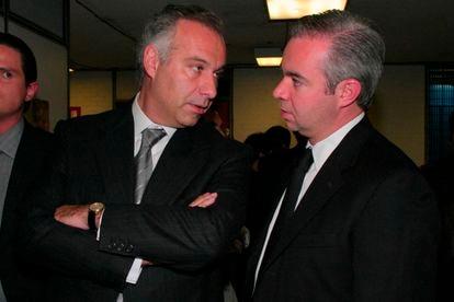 El abogado Juan Ramón Collado (izquierda) y su hermano Antonio, en una imagen de archivo.