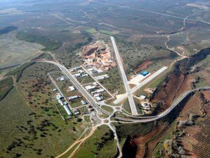 Vista aérea del aeródromo de Beas de Segura (Jaén).