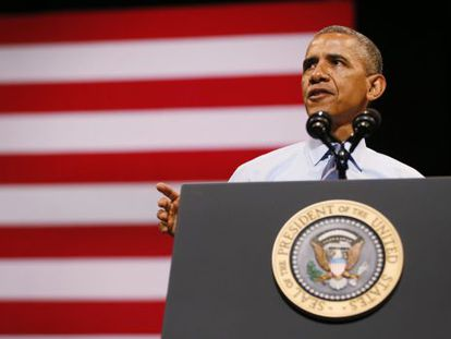 El presidente Barack Obama durante un discurso en Austin, Texas.