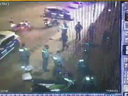 Unos ladrones se saltan un control policial en Sabadell y se fugan con dos furgonetas en un robo con tiros