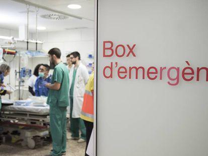 Los servicios de urgencias del Hospital de Bellvitge en una foto de archivo.