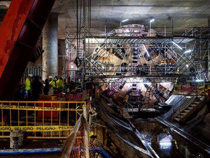 Imagen de las obras del Metro de Quito.