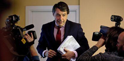 Ignacio González, durante una rueda de prensa en marzo de 2015.